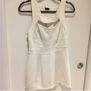 Urban Outfitters sparkle & fade cutout white dress
